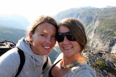 Anniken og meg  Eikesdalen2008